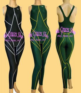Lady full body one piece racing swimsuit swimwear swim bodysuits S 3XL