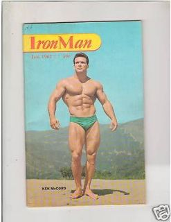 IronMan Bodybuilding muscle fitness magazine Ken McCord /John Corvello