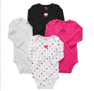 NWT Carters Baby Girl Clothes 4 Bodysuits Blue Cupcake 3 6 9 12 18 24