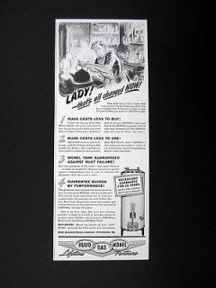 Ruud Gas Water Heater garrett price art illustration 1941 print Ad