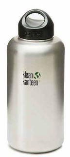 Klean Kanteen Stainless Steel Water Bottle 64 oz Wide Mouth BPA Free
