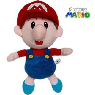 Super Mario Brothers 22cm Plush Toy Baby Mario Stuffed Teddy Dolls