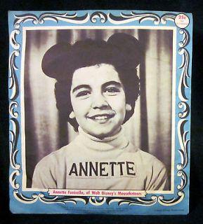 Annette on sleeve 1950s Disney Mickey Mouse Club Record 78 Huck Finn