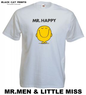 MR MEN MR HAPPY T SHIRT   MR MEN AND LITTLE MISS T SHIRTS