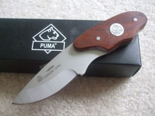 PUMA Rattler Knife Thuya Wood Handle Fixed Blade 133500TH Leather