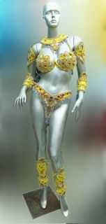 Samba Vegas Cabaret Parade Carnival Brazil Bra Bikin Costume XS XL