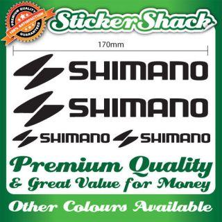 SHIMANO PREMIUM QUALITY BIKE FRAME STICKERS DECALS SET mountain bmx
