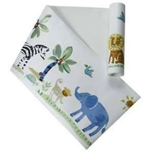 Jungle Wall Border Paper Nursery Lions Elephants Giraffes Zebras