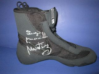 Sergio Martinez Signed Nike Boxing Boot PSA/DNA GUARANTEE (B)