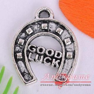 FREE SHIP 40pcs Cute Tibetan Silver Good Luck Charms NP7620 17x15mm