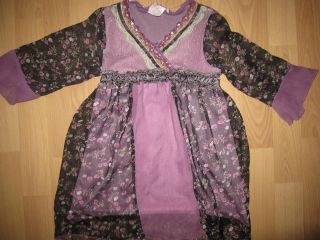 HANNAH BANANA BOUTIQUE purple floral Gypsy sequined dress, sz 4