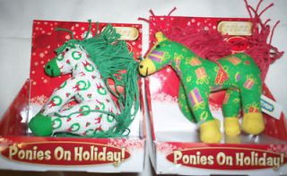 Breyer Ponies Holiday 2010 Plush Horse LOT of 2 Jingle + Mistletoe NEW