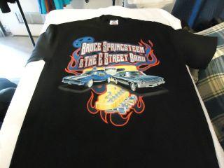 BRUCE SPRINGSTEEN 2003 BLACK TOUR SHIRT/ MENS LARGE
