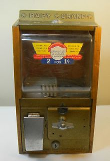 BABY GRAND One Cent Gum Ball Machine Vintage From Chicago