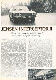 1970 Jensen Interceptor II   Road Test   Classic Article D205