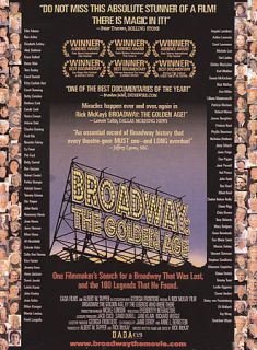 Broadway The Golden Age DVD, 2004