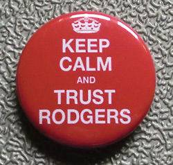 AND TRUST RODGERS BADGE BUTTON PIN (1inch) BRENDAN RODGERS LIVERPOOL