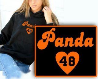 PABLO heart Panda SANDOVAL 2XL 3XL Womens HOODIE SWEATSHIRT SF GIants