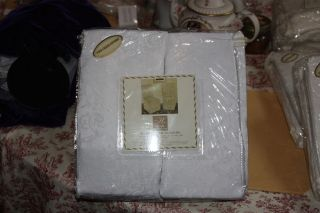 RICH IVORY BROCADE DINING ROOM CHAIR SLIP COVERS BY HOME CREATION SET