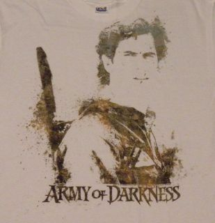 of Darkness Ash WIlliams Watercolor T shirt Evil Dead 2 Bruce Campbell