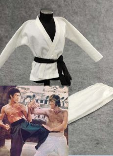 Costume Bruce Lee Hottoys Kung Fu set Judo Chuck Norris Suit RM 5