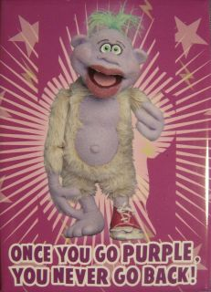 JEFF DUNHAM PEANUT ONCE YOU GO PURPLE FRIDGE MAGNET NEW