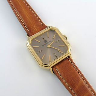VINTAGE BUCHERER 18K YELLOW GOLD LADIES 17 JEWELS WATCH SWISS │RS