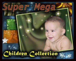 baby Digital Background Backdrops Template Frame photos Calendars