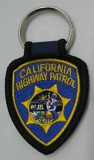 California Highway Patrol Patch Key Chain NEW