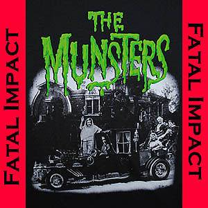 Gothic Horror Rock Rebel Herman Lily Munster Family Hot Rod Mens Black