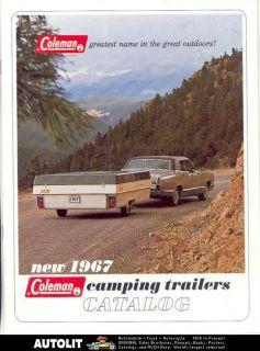 1967 Coleman CT190 CT180 CT170 Travel Trailer Brochure