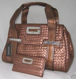 Guess Elsa Synth Leather Logo Bag Purse Satchel Handbag Sac Wallet