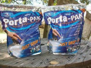 Porta Pak 2 X 50 count bags RV Boat camping portable toilet deodorizer