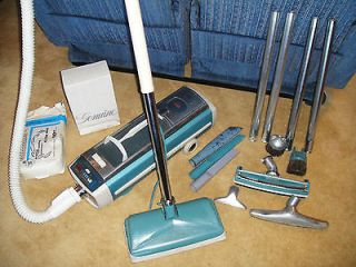 Vintage Electrolux #1205 Canister Vacuum W/ Power Head, Attachments