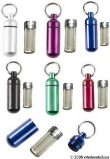 12 Color Geocaching Anodized Metal ID/ Tag Holders GPS