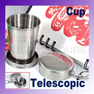 Mini Stainless Steel Portable Travel Cup Telescopic New