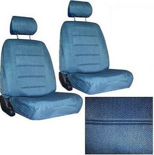 Medium Blue Car SEAT COVERS 2 low back seatcovers w/ head rest #3