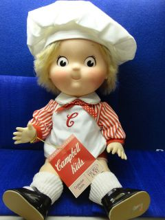 VINTAGE CAMPBELL KIDS DOLL   BOY DOLL 17 INCHES TALL