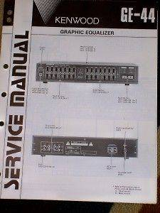 Kenwood GE 44 Graphic Equalizer Service/Parts Manual