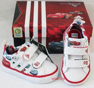 GENUINE ADIDAS DISNEY CARS LIGHTNING McQUEEN BABY SHOES TRAINERS UK 3