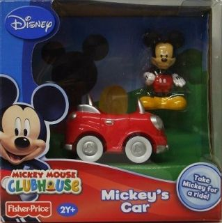 Mickey Mouse CLUBHOUSE Mickeys Car Figure & Car Fisher Price New