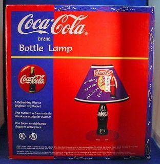 1997 Classic Coca Cola Bottle Desk Lamp New Never Removed MIB   COKE