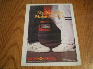 1987 British Knights Mens Tennis Shoe Shoes Ad Mens Feet Car