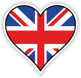 UK UNION JACK HEART vinyl STICKER bumper decal LOVE FLAG BIKE MOTO