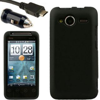 Case+Car Charger for HTC EVO Shift 4G C Holster Black Pouch Snap On