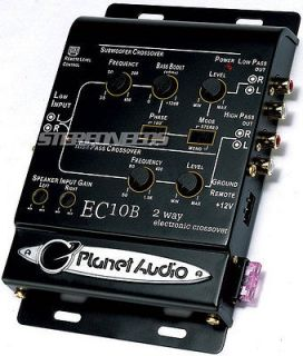 PLANET AUDIO EC10B 2 WAY ELECTRONIC CAR CROSSOVER REMOTE SUBWOOFER SUB