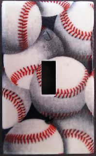 Baseball Game Room Man Cave Sports Light Switch Plate Cover Wall Decor