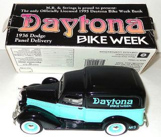 Vintage 1936 Dodge Panel Delivery Truck BANK w/box Daytona Bike Week