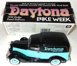 Vintage 1936 Dodge Panel Delivery Truck BANK w/box Daytona Bike Week