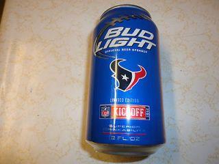 BUD LIGHT BEER  HOUSTON TEXANS   NFL LIMITED EDITION  12oz. Alum
